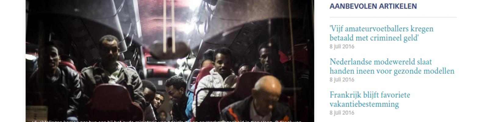 Vanwege personeelstekort geen controle op vluchtelingen
