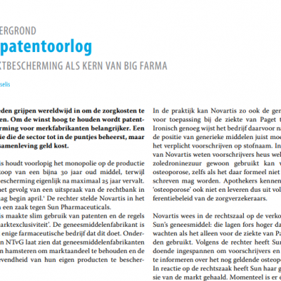 NTvG Patentoorlog
