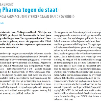 NTVG - big pharma tegen de staat
